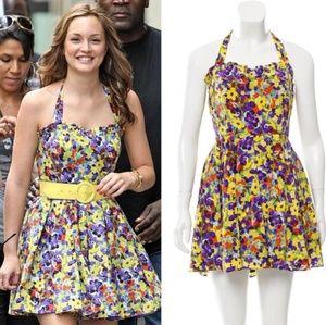 Alice + Olivia | Terry Floral Halter Dress
